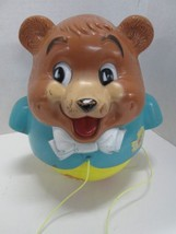 Vintage 1969 Fisher Price Chubby Bear Musical Rolling Pull toy - $12.82