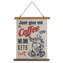 Wall Decor, Give Me Coffee Linen Decorative Living Room Small Home Wall ... - $27.49