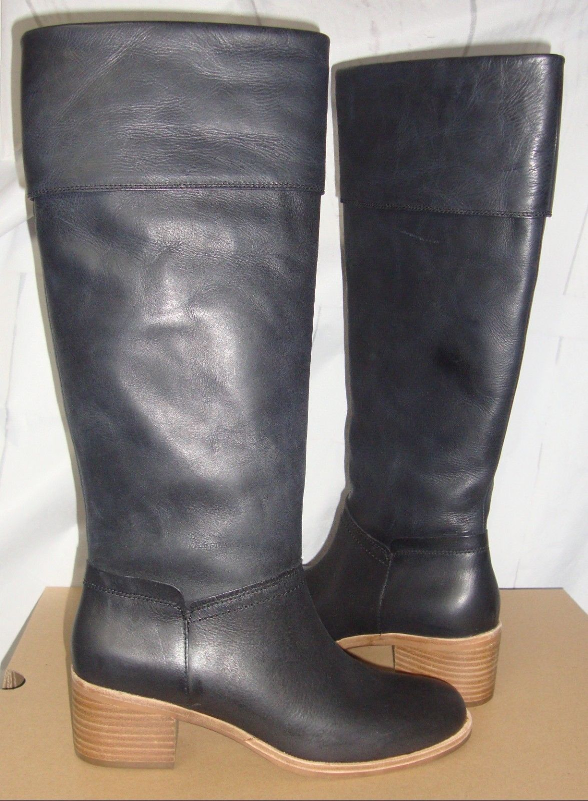 16d376da67f UGG CARLIN Black Tall Leather Boots Women's and 50 similar items
