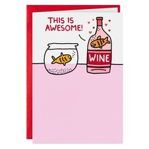 Your Happy Place Funny Valentine's Day Card With Envelope - $4.99