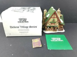 Dept 56 Dickens Village Series Leacock Poulterer #58303 in Box w/ Lights - $22.47
