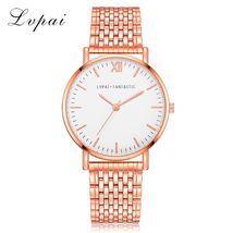 Lvpai® Luxury Watch Rose Gold Classic Stainless Steel Dress Quartz Alloy image 6