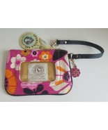 SPARTINA 449 Linen & Leather Small Wristlet Clutch ID Slot Multi Color New - $34.65