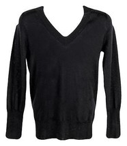 J Crew Women's V-Neck Boyfriend Sweater in Everyday Cashmere Black Sz S ... - $91.99