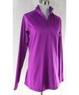 NIKE PRO COMBAT Women's 1/4 Zip Pullover Jacket L Large Solid Purple Dri... - $25.49
