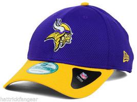 Minnesota Vikings New Era 9FORTY Fundamental Tech NFL Team Logo Cap Hat OSFM - $20.85
