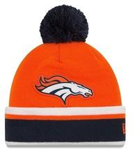 Denver Broncos Knit Pom Cuff Cap Hat Beanie~New Era Relation~OSFM~NFL~Ships FREE - £12.16 GBP