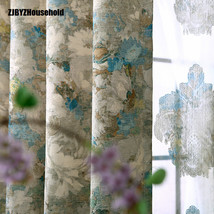 American Chinese rural custom shading cloth curtains for dining living r... - $34.84+