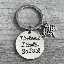 Lacrosse Keychain Lacrosse Gift I Believe I Could So I Did Lax Jewelry P... - $10.00