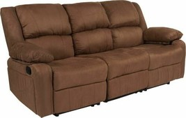 Durable Harmony Series Chocolate Brown Microfiber Sofa w/Two Built-In Re... - $1,145.03