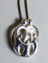 Carolyn Pollack Sterling Silver 925 Loving Family of 5 Pendant chain Nec... - $44.55