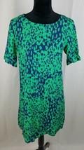 asos women 6 green blue dress short sleeve  - $25.74