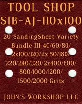 TOOL SHOP S1B-AJ-110x100 - 17 Different Grits - 20 Sheet Variety Bundle III - $18.97