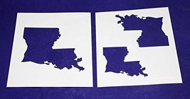 "State of Louisiana Stencils - 2 Piece Set - 4"", 5"", and 6"" Images - $15.99"