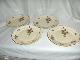 "4 Vintage Rosenthal China Pompadour Selb Germany 8"" Salad Dessert Plates NICE - $44.55"