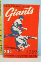 1959 San Francisco Giants Baseball Scorecard vs St. Louis Cardinals Unsc... - $39.55