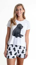 Dog Black Labrador pajama set with shorts for women Lab - $30.00