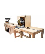 Miter Saw Station with Storage Plans DIY Woodworking Bench Stand Build Y... - $13.95