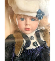 Tiffany Collection Porcelain Doll Blonde Hair Blue Eyes New in Box Victo... - $54.44