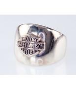 Harley Davidson Sterling Silver Plaque Ring Size 8 - $173.24