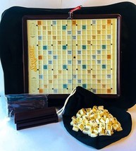Scrabble Travel Folio Edition 2001 Hasbro Snap In Tiles Compact Folding ... - $22.00