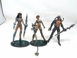 Lot Of 3 Witchblade Medevil Action Figure Moore Action Collectibles Top Cow 1998 - $14.89