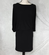 Jessica Simpson Black Split Sleeve Cocktail Blouson Dress Size 2  - $21.49