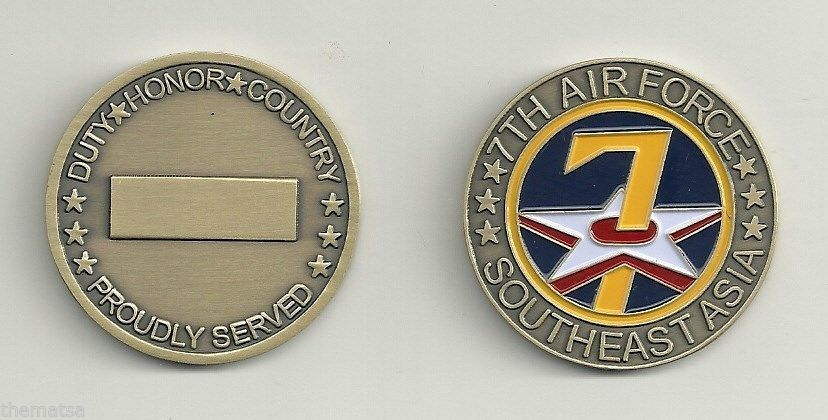 USAF 7TH AIR FORCE SOUTHEAST ASIA  CHALLENGE COIN