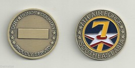 Usaf 7TH Air Force Southeast Asia Challenge Coin - $16.24