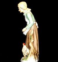 Figurine of Old Woman gathering eggs HOMCO 1434 AA19-1619 Vintage image 5