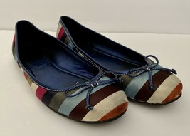 COACH Legacy Ladie Stripe Ballet Flats Shoes Multicolored Women's Size 7 M - $21.98