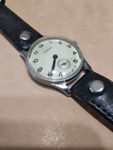 Pobeda 15 Jewels Gold plated mens wrist watch vintage 1954yer USSR RARE original image 9
