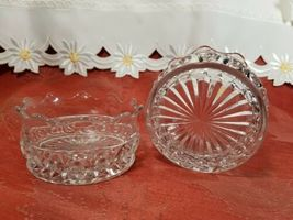 """PAIR OF CANDY DISH WIGGLY EDGE, CIRCLES AND STAR BOTTOM 4"""" X 2"""" image 5"""