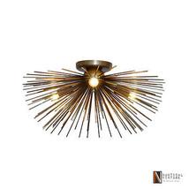 Mid century Starburst Urchin Brass Wall Lamp Light Sconce Ceiling Chande... - £194.31 GBP