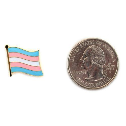 Transgender Bandiera Spilla da Bavero 1.3cm Trans Pride Lgbt Cappello