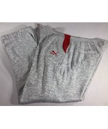 VTG Puma Track Pants Tri-Blend Heather Sweatpants Joggers 80s 90s Medium - $29.99