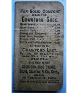 19th Century CRAWFORD SHOES Advertising Note Pad - $23.70
