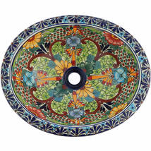 Mexican Ceramic Sink Decorative Handmade Hand painted # 227 - $109.29