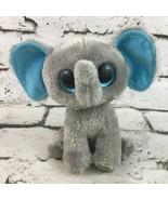 Ty Beanie Boos Peanut Plush Elephant Cute Glitter Eyes Stuffed Animal Toy - $9.89