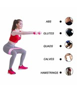 Gym Fitness Rubber Band Exercises Braided Elastic Band Hip Lifting Resis... - $4.10+