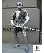 Medieval Knight Suit Of Armor Halloween Full Body Armour Costume - $899.00
