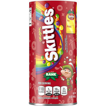 Skittles Original Holiday Elf Candy Bank w Sealed Candy Bags Inside