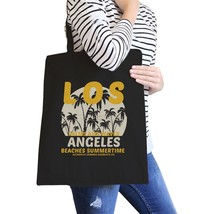 Los Angeles Beaches Summertime Black Canvas Bags - $15.99