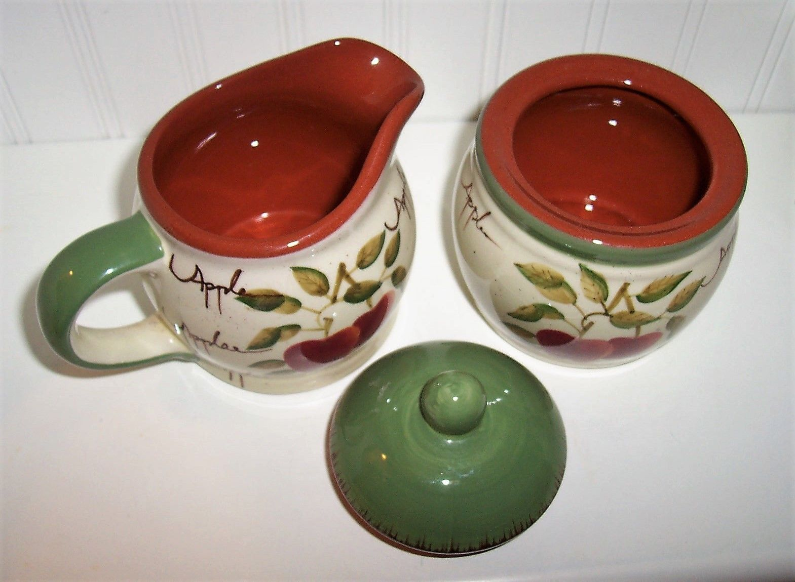 Home Interiors Apple Orchard Collection Sugar And Creamer Kj061416