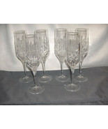 6 Vintage Royal Doulton Fine Crystal Summit Wine Flutes Criss Cross Spea... - $84.15