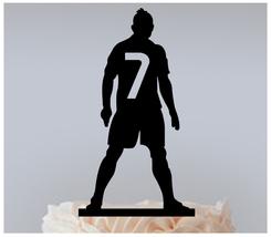 Wedding,Birthday Cake topper,Cupcake topper,silhouette Cristiano Ronaldo... - $20.00