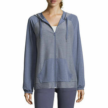 NWT st. johns bay blue   zip front track  jacket   size petite  xsmall - €14,72 EUR