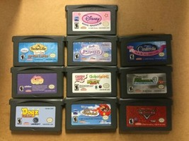 10 Nintendo Game Boy Advance Games Barbie Disney Dogz Candyland Kim Poss... - $97.99