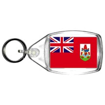british overseas territory of bermuda flag  keyring  handmade in uk from uk made