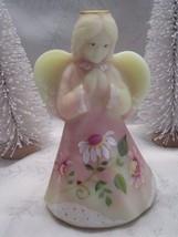 "Fenton Art Glass 2008 6.5"" Burmese Angel Girl Figurine Limited Ed. - $99.00"